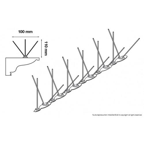 PICS ANTI PIGEONS - 6 x 50cm